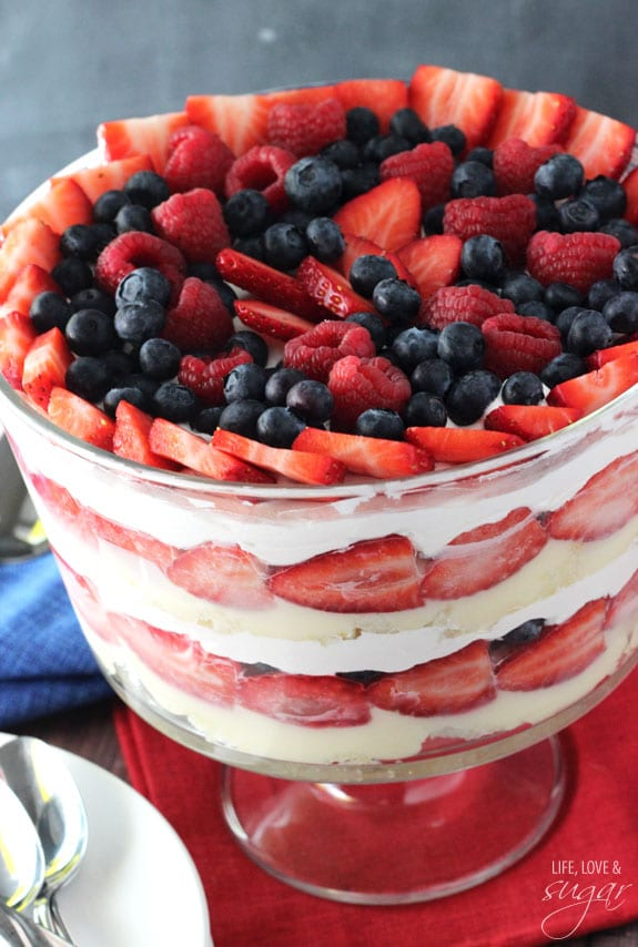 Triple Berry Angel Food Cake
