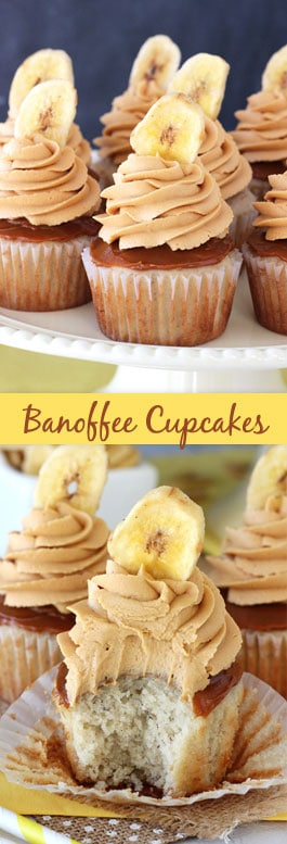 Banoffee Cupcakes collage