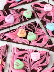 Conversation Heart Chocolate Bark