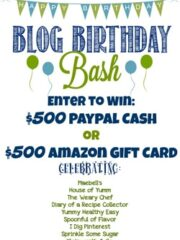 Blog Birthday Giveaway