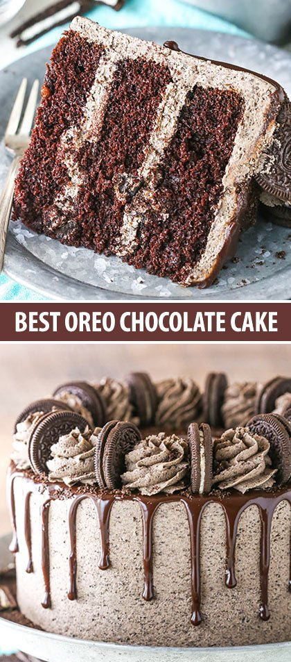 Fabulous Chocolate Oreo Cake Recipe Oreo Lovers Dream Dessert Funny Birthday Cards Online Inifodamsfinfo