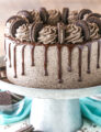 side view of Chocolate Oreo Cake