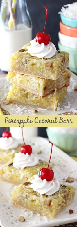 Pineapple Coconut Bars collage