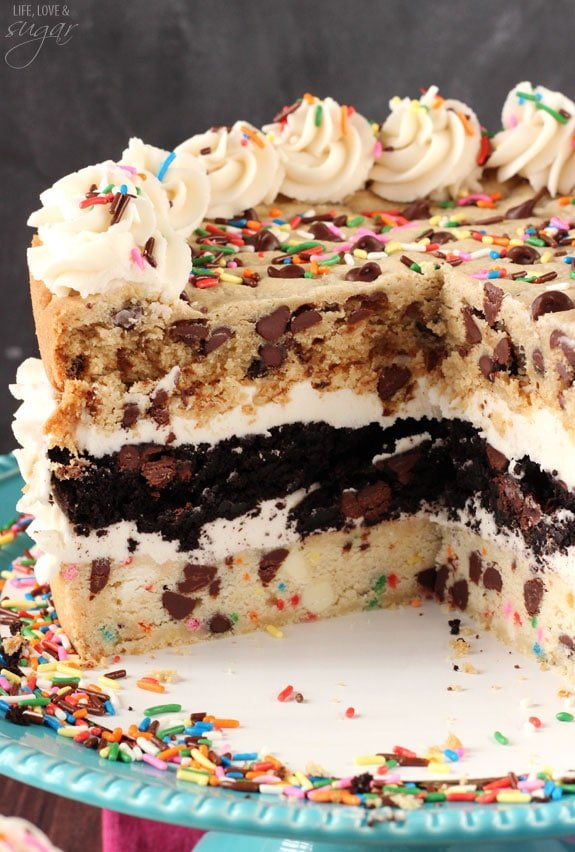 Three Layer Cookie Cake Recipe