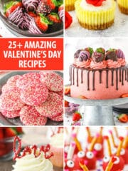 pinterest image for valentines day recipes