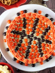 Image of an M&M Basketball Chocolate Chip Cookie Cake