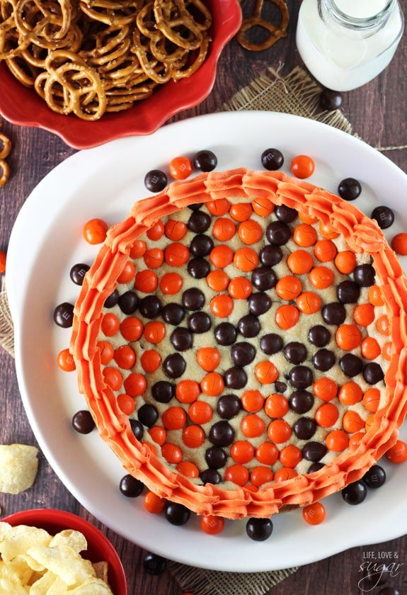 M M Basketball Chocolate Chip Cookie Cake Easy Cookie Cake Recipe