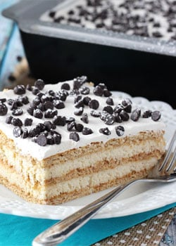 Image of a Slice of Cannoli Cake