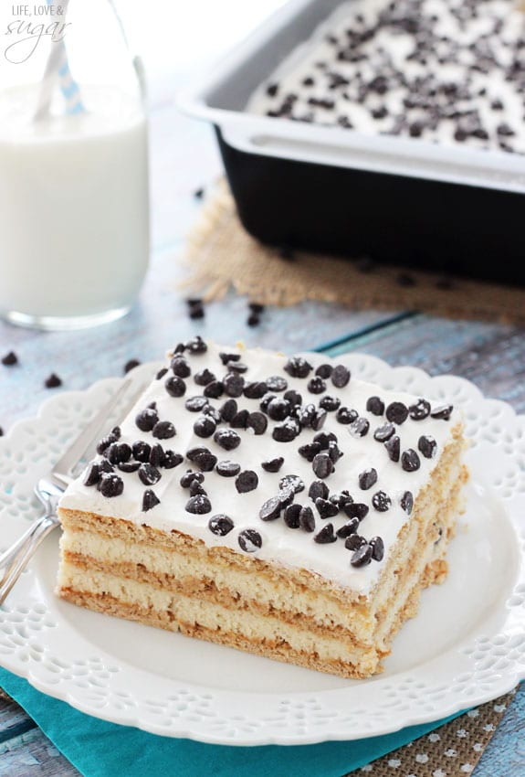 Cake Mix Cannoli Cake