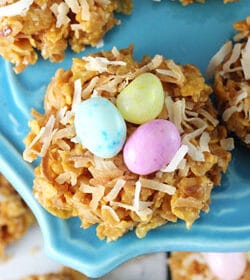No-Bake-Caramel-Coconut-Nest-Cookies-featured