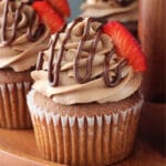 Nutella Cupcakes close up