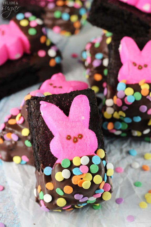Bunny Peeps In A Blanket Brownies Life Love And Sugar