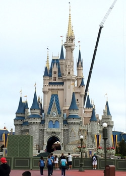 Seeing the Disney World castle on my recent Food Blog Forum trip.