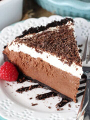 Image of a Slice of Chocolate Truffle Pie