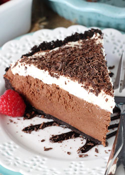 Image of a Slice of Chocolate Truffle Pie