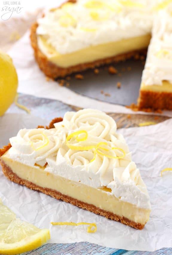 Creamy Lemon Tart - Life Love and Sugar
