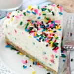 No Bake Funfetti Cheesecake