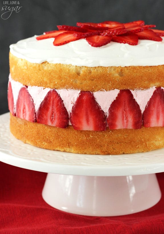 Strawberry Vanilla Ice Cream Cake