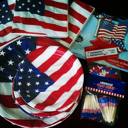 American Flag Paper Products for my Husband's Citizenship Party