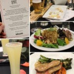 A Collage of Images of Drinks, Dishes and the Menu at Santa Barbara's Whole Foods Market