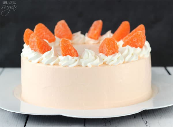 Orange Creamsicle Ice Cream Cake - Life Love and Sugar