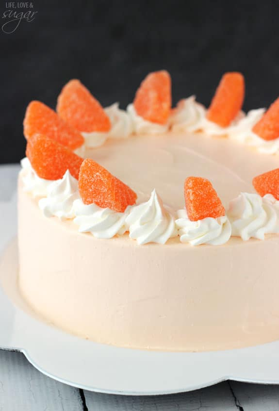 Whipped Cream Birthday Cake