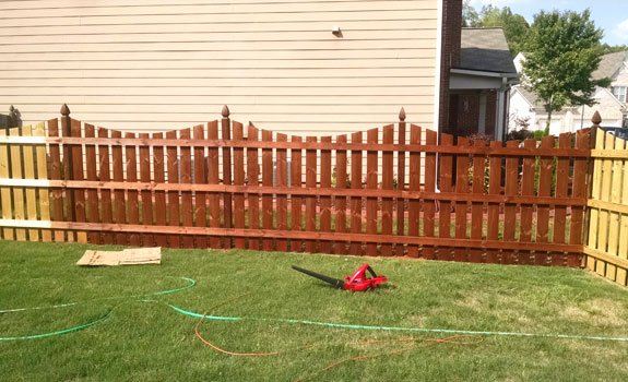 The Stained Fence Ian and I Installed in Our Yard