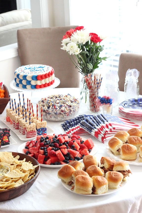How to throw an america party life love and sugar table2 forumfinder Images