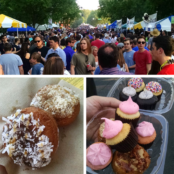 A Collage of Images From the Taste of Alpharetta Festival
