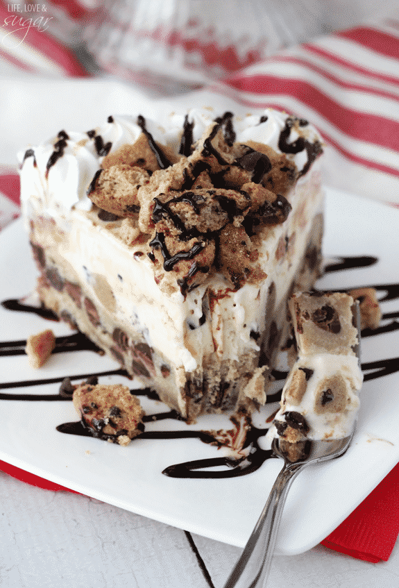 Chocolate Chip Cookie Ice Cream Cake - Life Love and Sugar