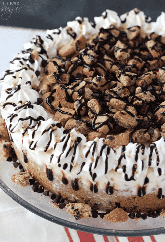 Chocolate Chip Cookie Cake No Brown Sugar