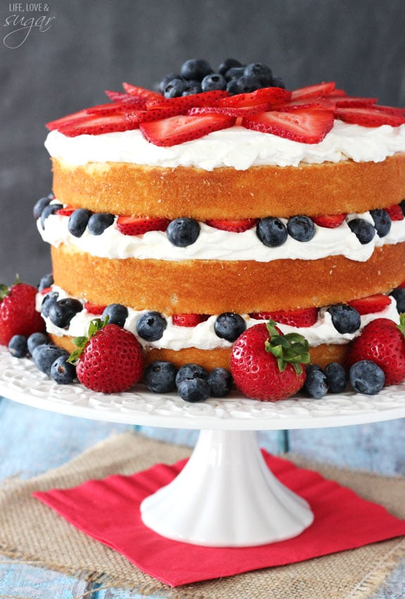 Vanilla Layer Cake Strawberry Filling