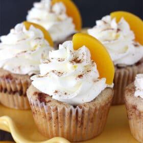 Image of Peach Cobbler Cupcakes