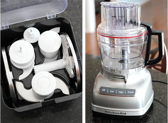 Mini food processor with attachments