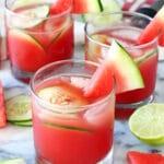 Watermelon Elderflower Cocktail