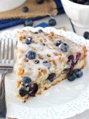 Blueberry Streusel Coffee Cake - super moist, full of blueberries, cinnamon and streusel! Amazing!