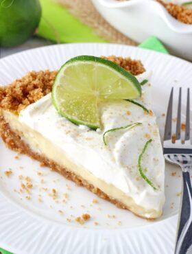 Key Lime Pie slice on a plate
