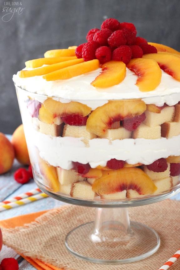 Raspberry Pound Cake Trifle