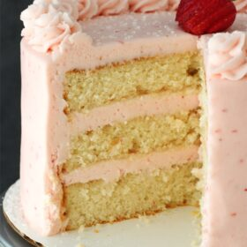 Image of Strawberry Moscato Layer Cake