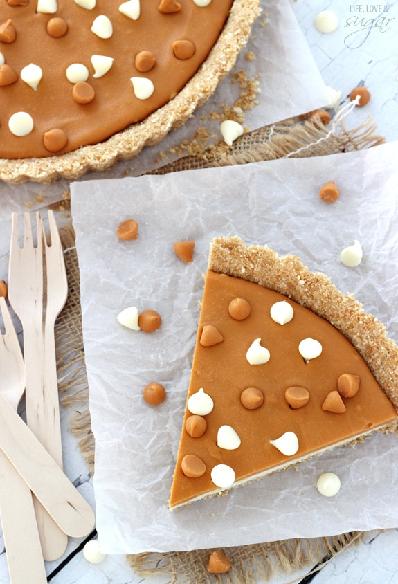 White Chocolate Butterscotch Tart