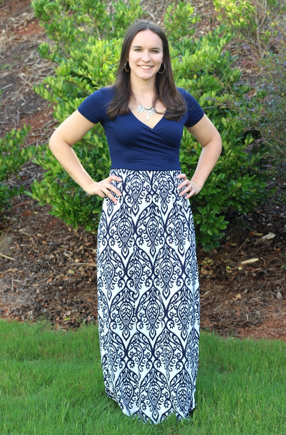 A Cute Floor-Length Dress From My July Stitch Fix Box
