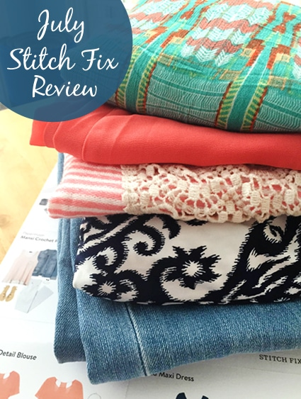 A Pile of My July 2015 Stitch Fix Subscription Box Garments