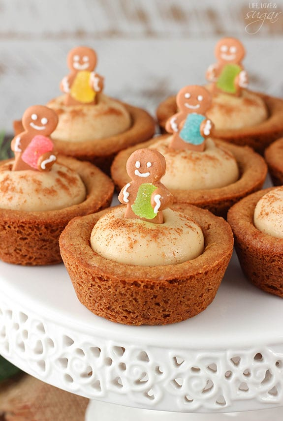 Gingerbread Cheesecake Cookie Cups - Life Love and Sugar
