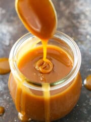 Homemade Caramel Sauce! Perfect for fall and holiday desserts!