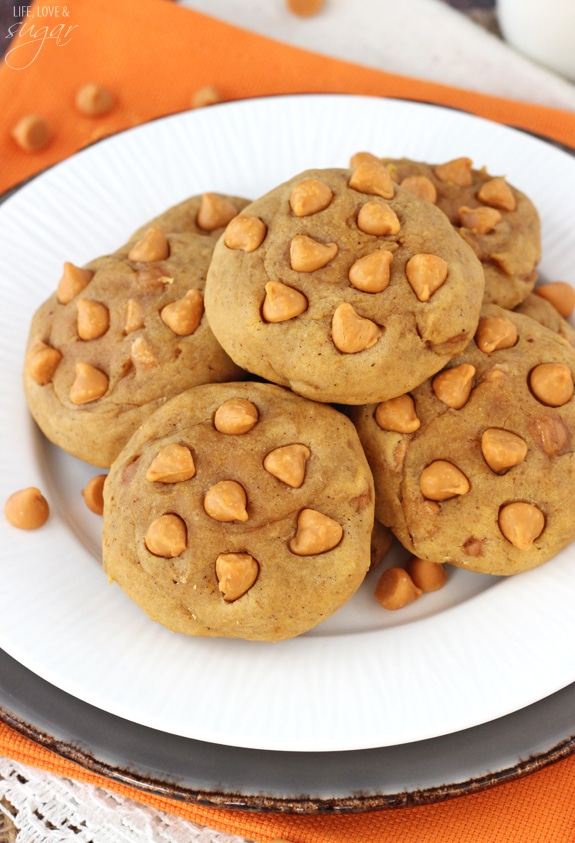 Pumpkin Butterscotch Chip Cookies - Life Love and Sugar