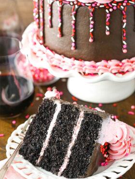 Red Wine Chocolate Cake image