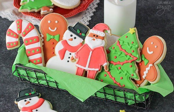 how to decorate cutout sugar cookies with royal icing includes recipes detailed instructions and - Decorated Christmas Sugar Cookies