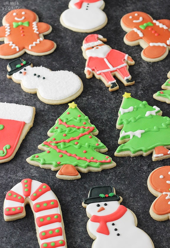 Cutout Sugar Cookies with Royal Icing - the best! They're soft, delicious and don't need to be refrigerated before baking!