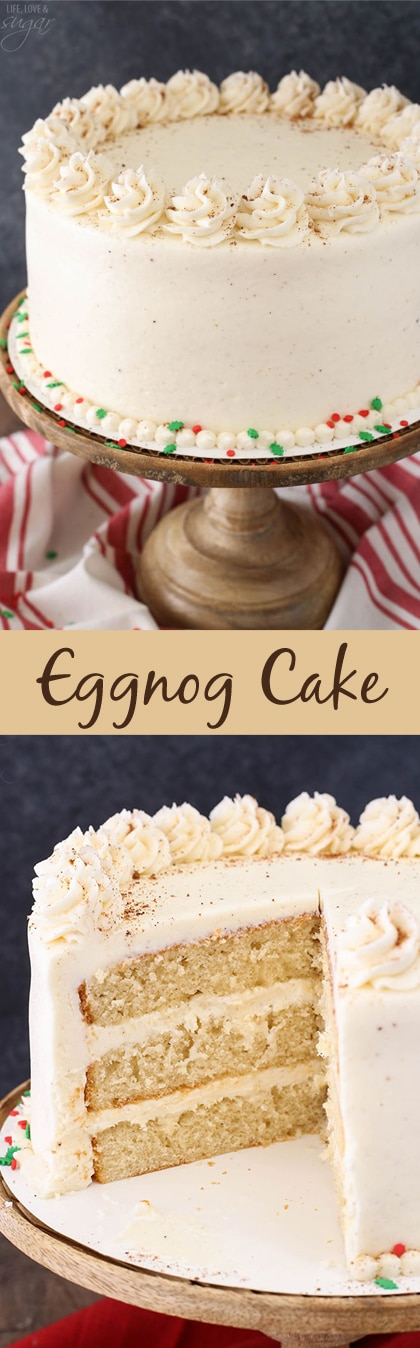 Eggnog Layer Cake collage