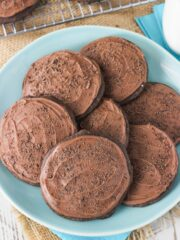 Grandfather's Favorite Chocolate Cookies - soft and cakey chocolate cookies! An old family recipe!